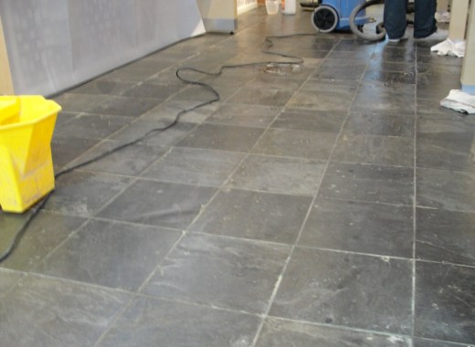 Slate Floor London Phone Shop Before