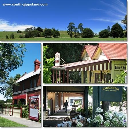pictures of Loch Recreation Reserve, Victoria Manor Fine Antiques, Carringtons Of Loch Village and local streets