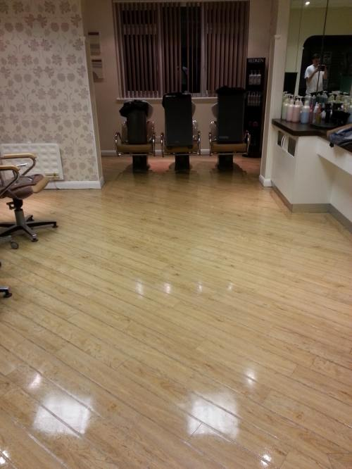Amtico Floor Wimbledon Hair Salon After Cleaning