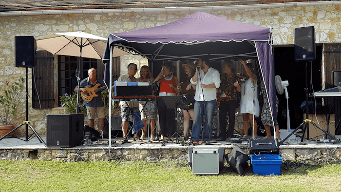 Live band in a private party