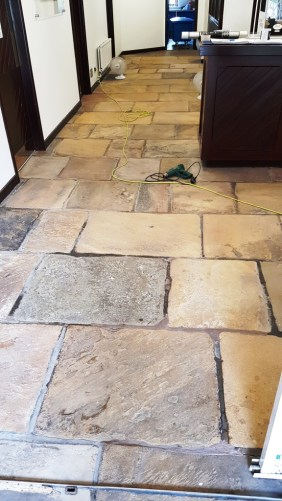 Office Yorkstone Floor After Cleaning Norton Sheffield