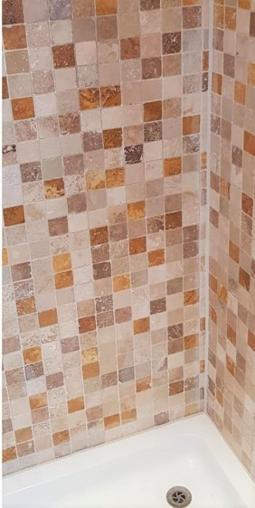 Travertine Tiled Shower Enclosure After Cleaning Totley