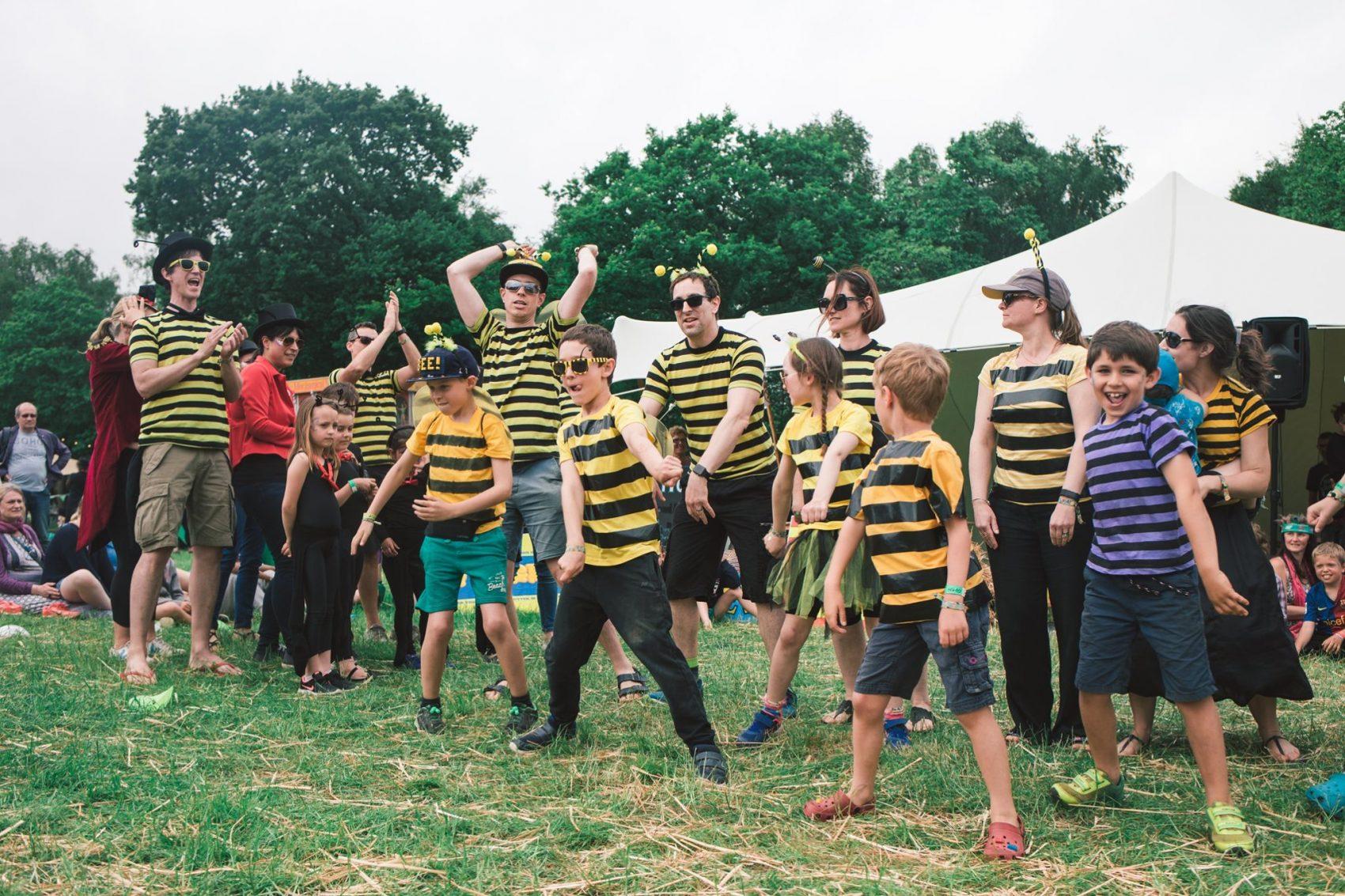 dance off bees Elderflower Fields 2019