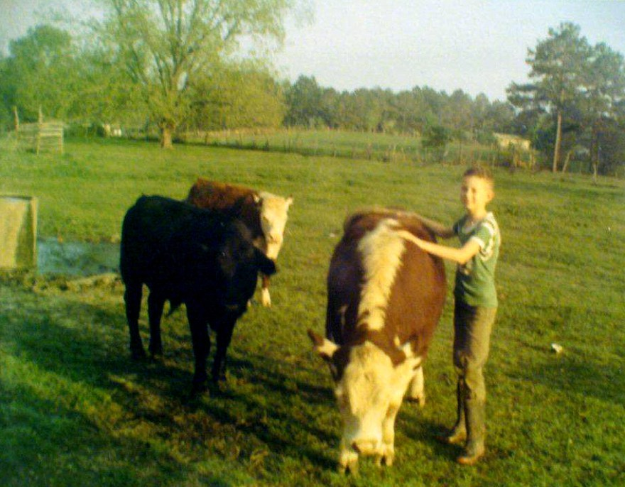 Dale with 4H Steers