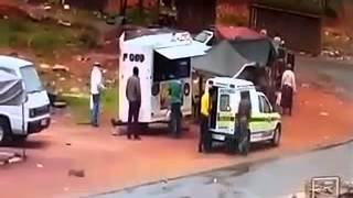 South Africa police robbed