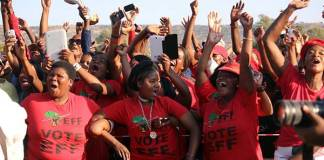 Economic Freedom Fighters (EFF) supporters