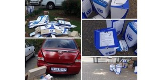 Midrand voting material, collage of images on social media misleading