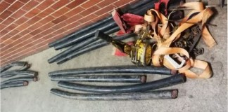Theft of Telkom copper cables, 6 arrested, Phoenix. Photo: SAPS