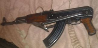 Stilfontein illegal mining, 9 arrested, 2 rifles recovered. Photo: SAPS
