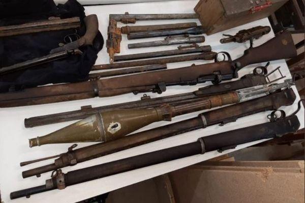 Firearm cache found in Oudtshoorn Dam. Photo: Arrive Alive