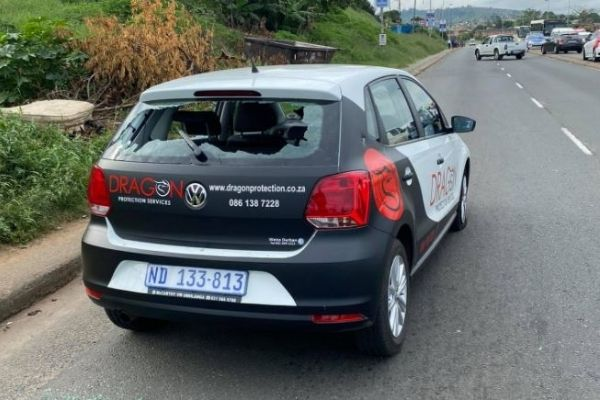 Robbers open fire on security vehicle, officer wounded, Inanda. Photo: RUSA