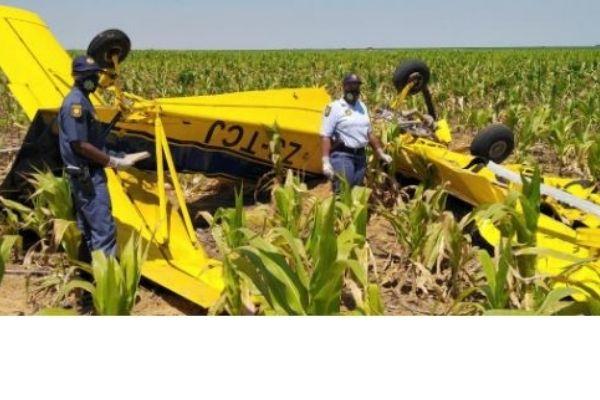 Pilot found deceased after crop spraying aeroplane crashes, Bultfontein. Photo: SAPS