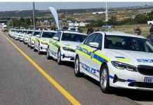 Relaunched highway patrol unit handed 55 high performance vehicles, Gauteng. Photo: SAPS