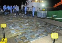 Police seize cocaine haul worth R583 million off Saldanha coast. Photo: SAPS