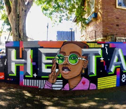 Durban artist pays tribute to Afro-futurism in a welcoming, colourful mural