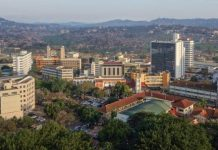 The skyline of Kampala Uganda. Broll has a presence in 16 African countries