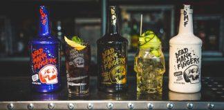 DMF Bottles with Cocktails