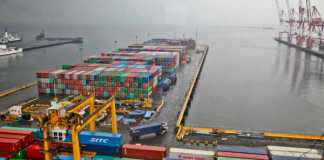 A shortage of shipping containers port congestion is affecting global supply chains. Photo by Jerome Mon