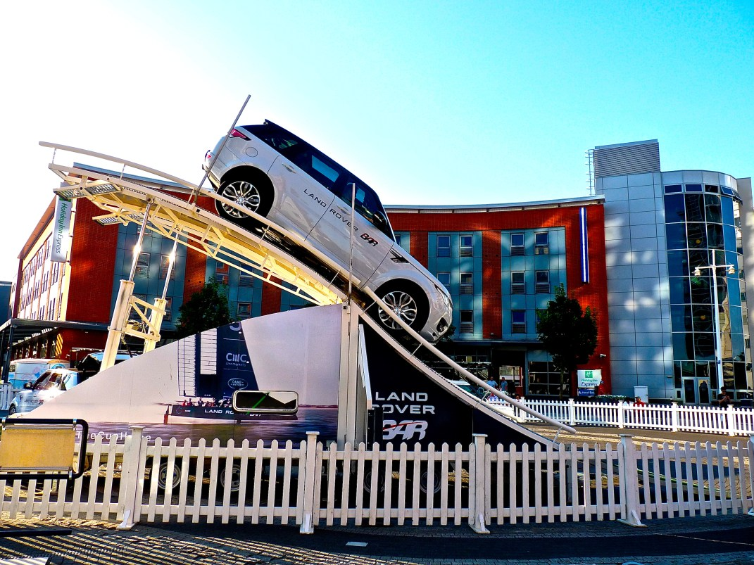 Fun with Land Rover sponsors at Gunwharf Quays