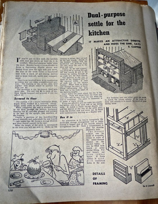 'Do it yourself' - How to make a dual purpose set of shelves/kitchen settle.