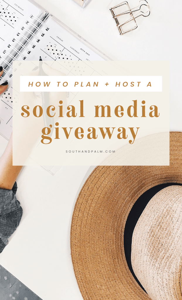 Launching a new website? Learn how to host a giveaway on social media to promote your new website launch, plus get free Canva Templates for Instagram graphics and launch graphics to help you launch your new website with confidence #websitelaunchideas #brandlauchtips | South and Palm Blog