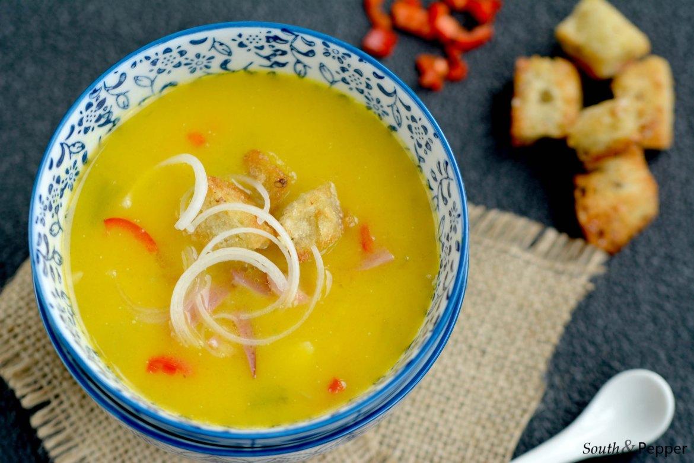 Recept Pikant pompoensoepje met gerookte eend