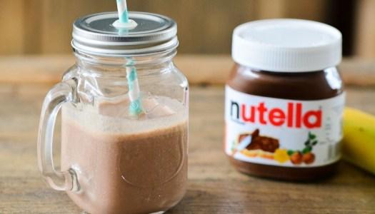 Milkshake van Nutella en banaan