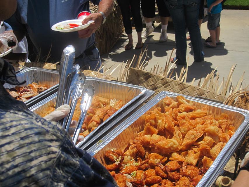 Hawaiian BBQ Catering Promotion 100 People W/staff