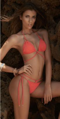 Irgus Swimwear Coral Wrap Bikini | http://bit.ly/2kbzi6j