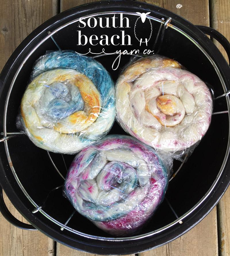 Speckled Yarn in the Dye Pot