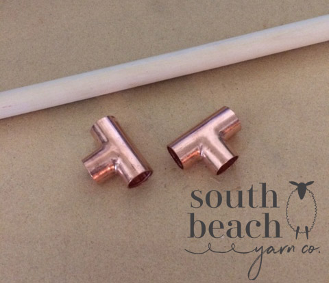 Picture of hardwood dowel and copper T fittings