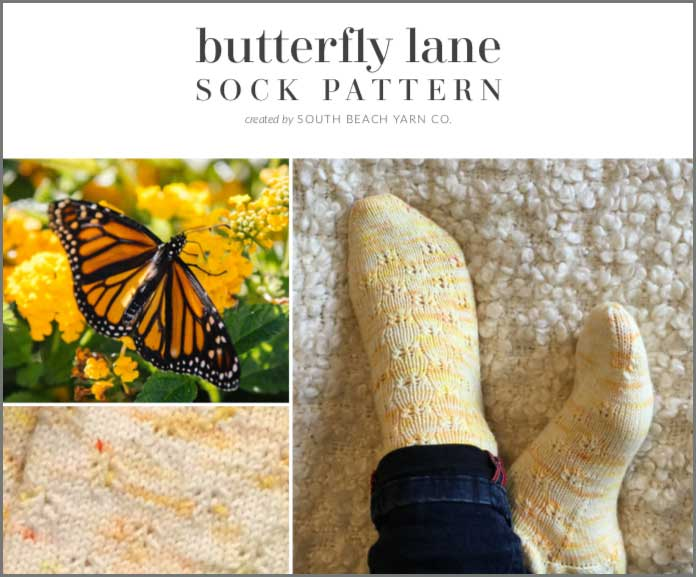 Butterfly Lane Sock Pattern Cover Page Images