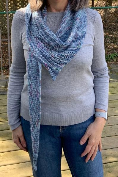 Easy Goes It Shawl Front View