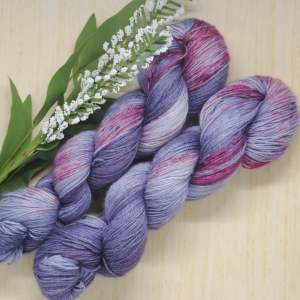 Lavender Heart Hand-Dyed yarn