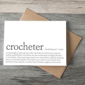 Crocheter Definition Crochet Themed Greeting Card