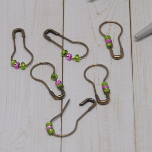 Green and Pink Stitch Markers
