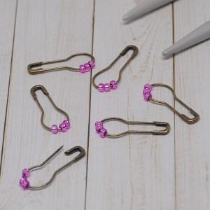 Pink Stitch Markers