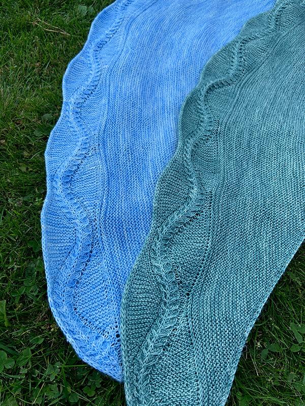 Closeup of shawls