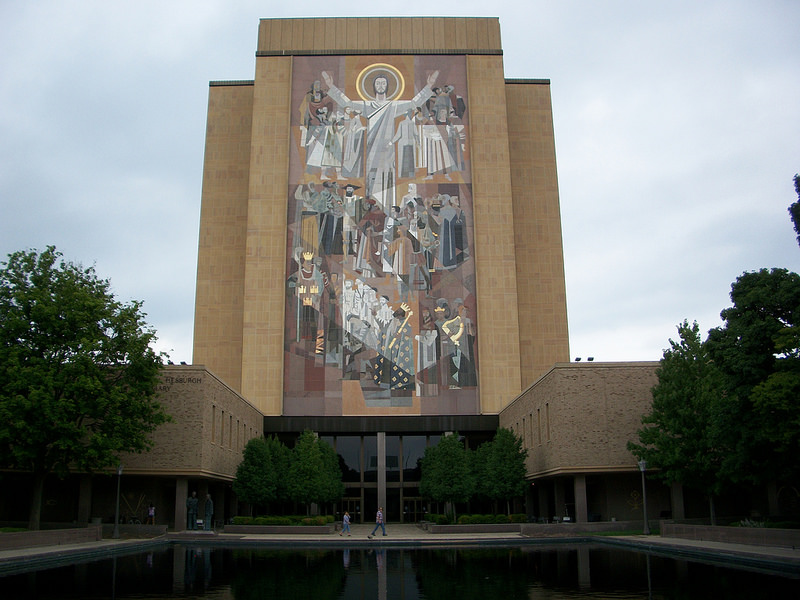University of Notre Dame Touchdown Jesus Library
