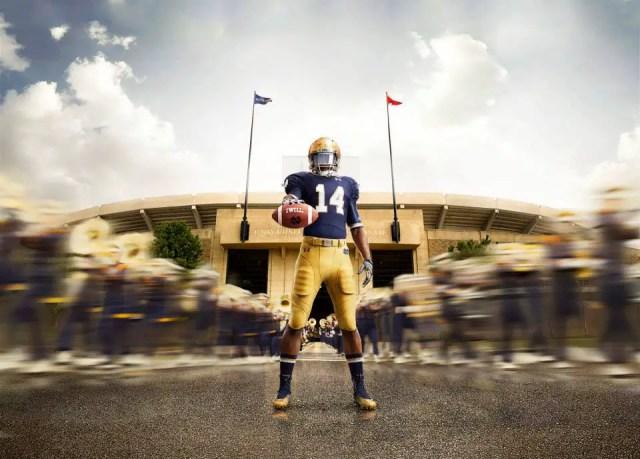 Notre Dame Under Armour Uniform