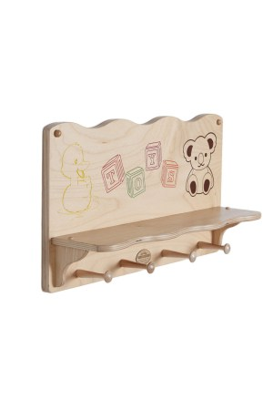 Kids Wooden Wall Shelf