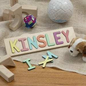 Kinsley Name Puzzle-Pastel