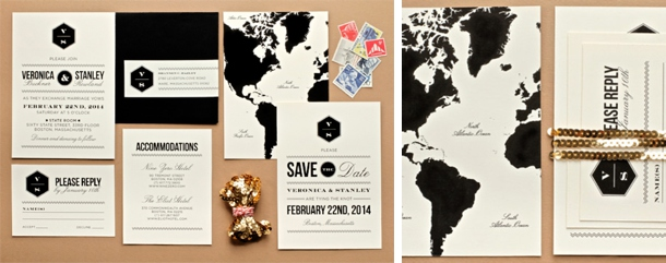 Travel Wedding Invitations
