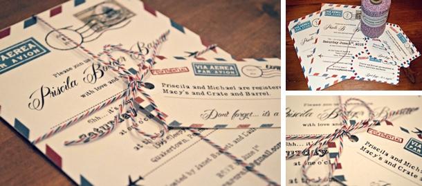 Wedding Invitations Travel Theme