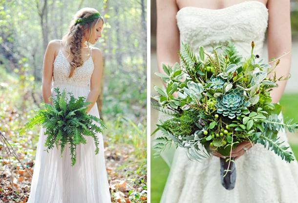 20 Greenery Wedding Bouquets