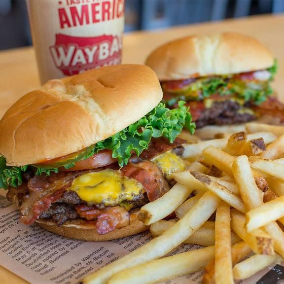 Wayback Burger's Double Bacon Burger