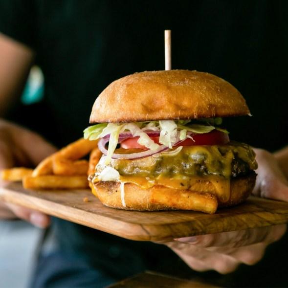 A Rutledge Cab Co. Burger