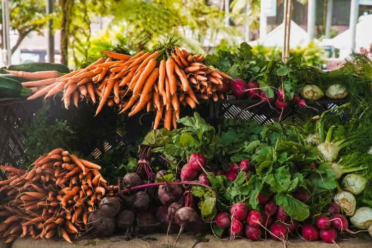 radish and carrots