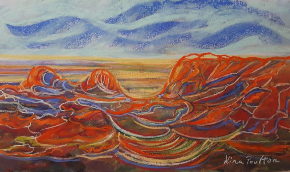 Outback dreaming - 46 x 24cm