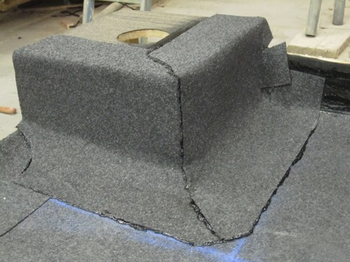 Built-up felt completed abutment detail